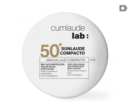 Cumlaude Sunlaude compacto SPF50+ color medium 10g