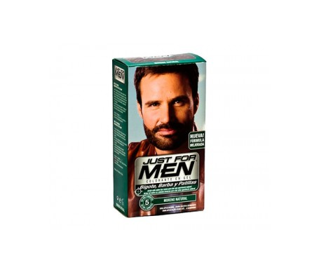 Just For Men gel colorante moreno para bigote y barba 30ml