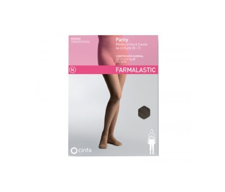 Farmalastic panty-media hasta la cintura (E-T) comp. normal T-reina plus capuchino 1ud