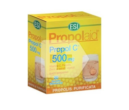 Propolaid Propol C 500mg 20 tabletas