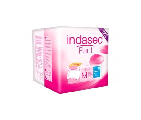 Indasec® Pant Plus talla media 12uds