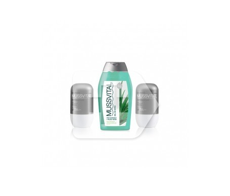 Mussvital desodorante antimanchas 75ml + 75ml + gel baño 100ml