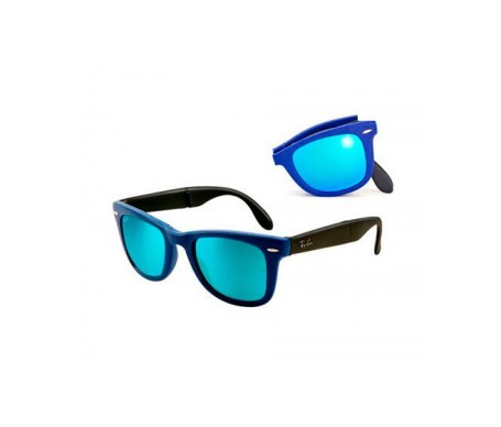 Ray-Ban Wayfarer Folding Flash Lenses Azul Flash 50mm lentes