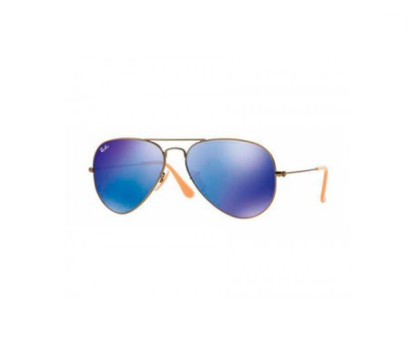 Ray-Ban Aviator Flash Lenses Azul/Violeta Espejada 55mm