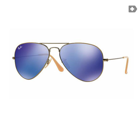 Ray-Ban Aviator Flash Lenses Azul/Violeta espejada 58mm lente
