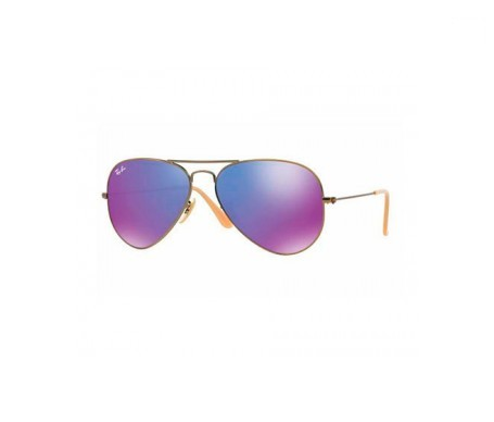 Ray-Ban Aviator Flash Lenses Violeta Espejada 55mm lente