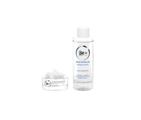 Be+ crema antiarrugas matificante 50ml + agua micelar 200ml