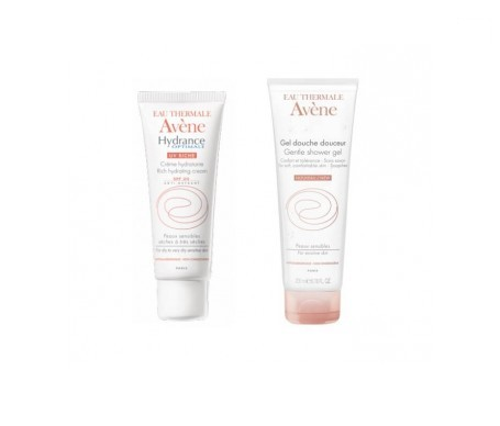 Avène Hydrance Optimale enriquecida SPF20+ 40ml + gel ducha suavidad 100ml