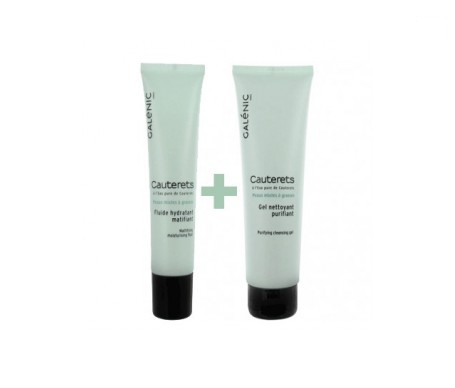 Galénic Cauterets fluido matificante 40ml + gel limpiador 150ml