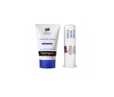 Neutrogena® crema de manos 50ml + stick labial SPF20+ 1ud