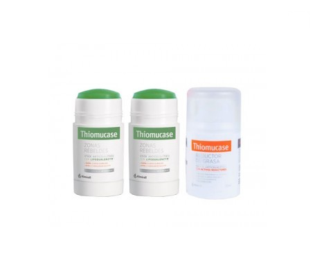 Thiomucase pack zonas rebeldes sticks 75ml+ 75ml  + crema anticelulítica 50ml