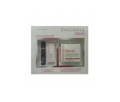Lancaster crema Total Age Correction día SPF15 30ml + 365 Cellular Elixiar serum 10ml + Total Age Correction Eye Cream 3ml
