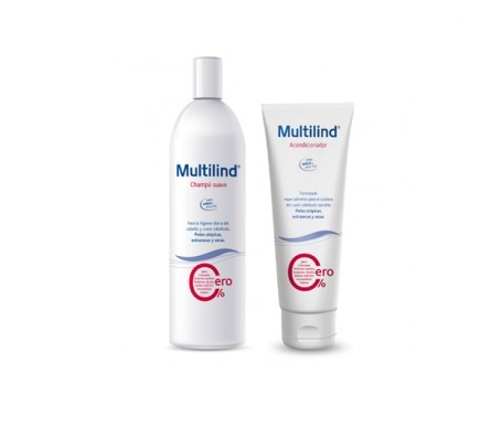 Multilind® champú suave 400ml + Multilind® acondicionador cabello 250ml