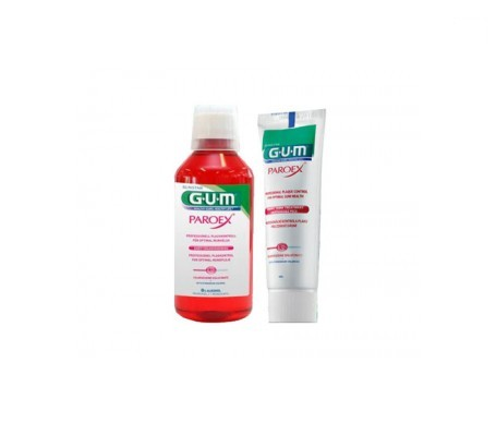 GUM® Paroex gel dentífrico 75ml + Paroex colutorio 500ml