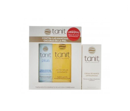 Tanit plus 15ml + Tanit filtro solar hidratante 50ml + Crema de manos antimanchas 50ml