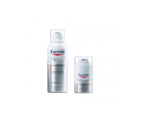 Eucerin Men Silver Shave gel de afeitar 150ml + Eucerin Men Deep Moisture 50ml