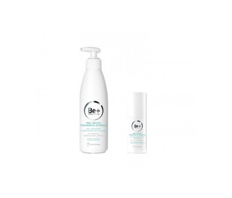 Be+ gel limpiador purificante matificante 200ml + emulsión reguladora matificante 50ml