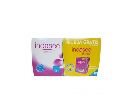 Indasec normal 24uds + Indasec Discreet® normal 12uds