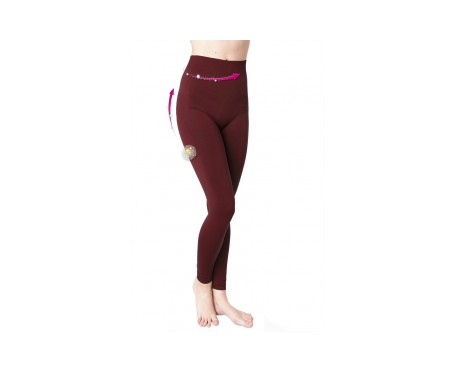 Anaissa leggings push up anticelulítico color marsala talla-M