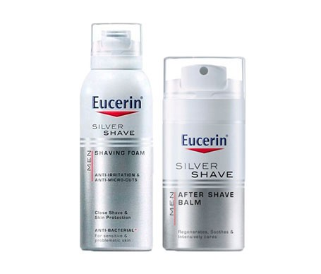 Eucerin® Men Silver Shave espuma de afeitar 150ml + bálsamo after shave 75ml