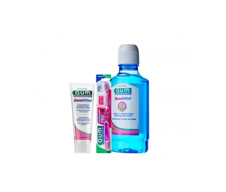 GUM® Sensivital gel dental 75ml + colutorio 500ml + REGALO