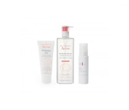 Avène Hydrance Optimale 40ml + gel de ducha pieles sensibles 100ml + MB sérum lifting 20ml