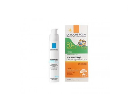 La Roche-Posay Hydraphase Intense Serum 30ml +  Dermo-Pediatrics SPF50+ leche 40ml