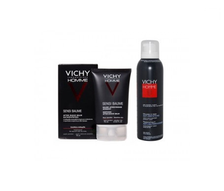 Vichy Homme bálsamo aftershave piel sensible 75ml + REGALO espuma 50ml