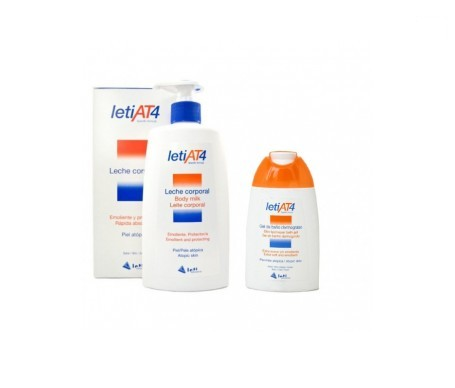 LetiAt4 leche corporal 500ml+gel de baño 200ml