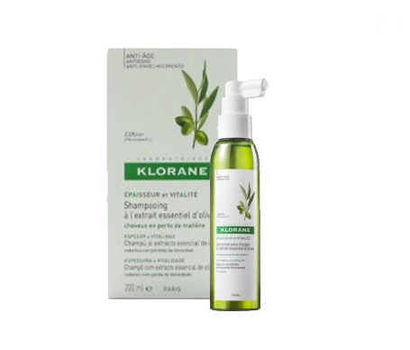 Klorane champú extracto de olivo espesor vitalidad 200ml + spray concentrado 125ml