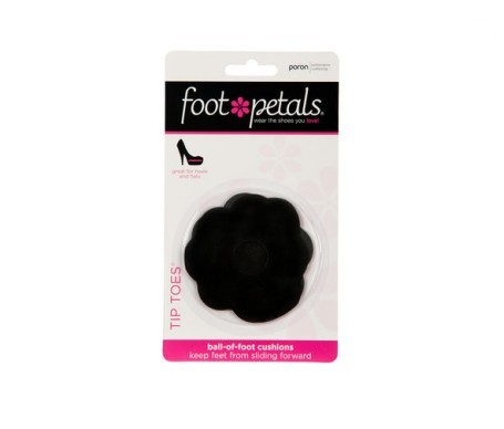 Foot Petals Tip Toes color negro 1 par