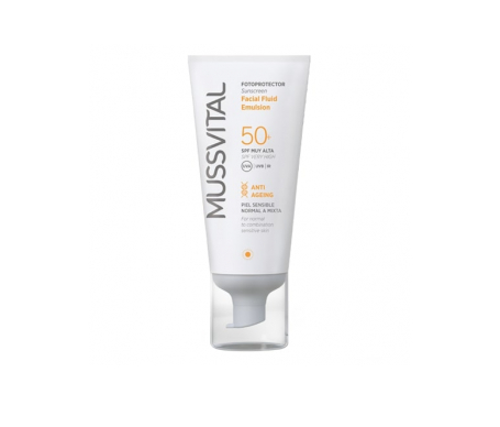 Mussvital crema facial fluid SPF50+ 50ml
