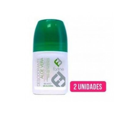 Farline desodorante aloe vera roll on 50ml+50ml