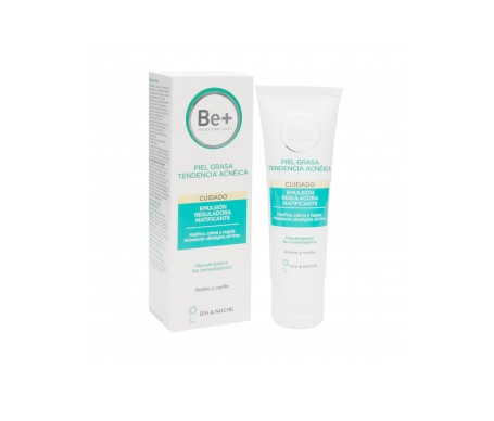 Be+ Reguladora Matificante Emulsion Piel Grasa Tendencia Acneica