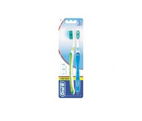 Oral-B Shiny Clean 1-2-3 cepillo de dientes 2uds