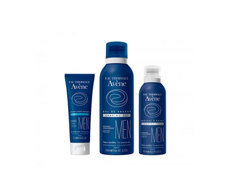 Avène Men gel afeitado 150ml + bálsamo 75ml + regalo