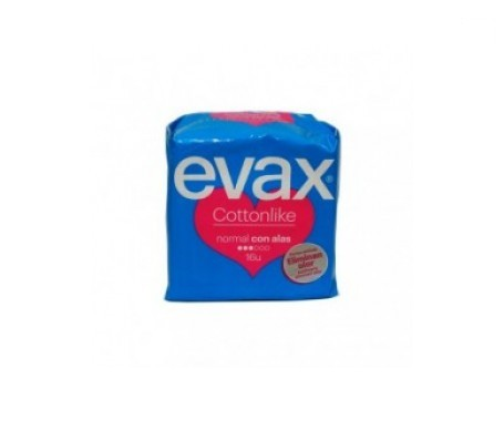 Evax Cottonlike normal con alas 32uds