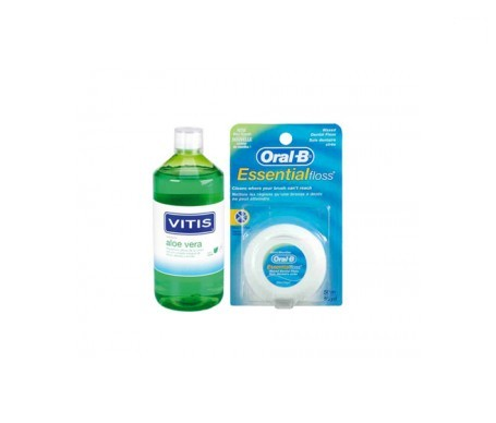 Vitis aloe vera 500ml + Oral-B® Super Floss® seda dental 50m