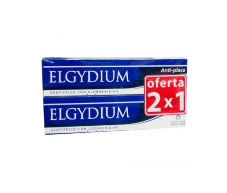 Elgydium dentífrico antiplaca 75ml+75ml