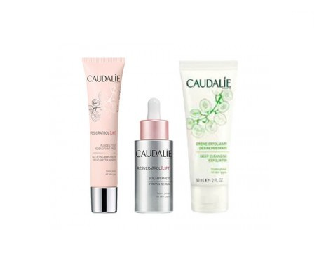 Caudalie Resveratrol Lift fluido litfting SPF20 40ml+ sérum firmeza 30ml+ exfoliante 60ml