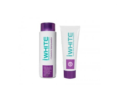 Iwhite colutorio blanqueador 500ml + pasta dental blanqueadora 75ml