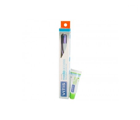 Vitis® Access cepillo dental medio 1ud + pasta 15ml
