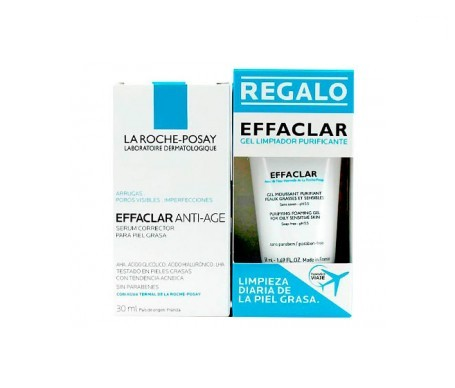 La Roche-Posay Effaclar sérum antiedad 30ml +  gel limpiador 50ml