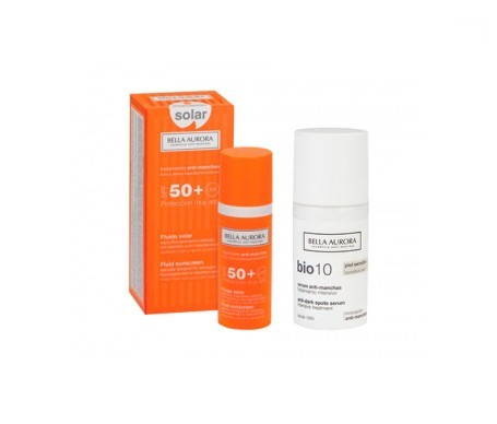 Bella Aurora Bio 10 sérum anti-manchas 30ml + fluido anti-manchas SPF50+ 50ml