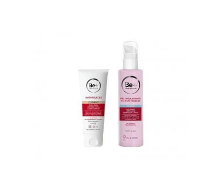 Be+ crema antirojeces piel normal/mixta 50ml + desmaquillante 200ml