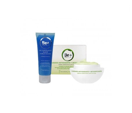Be+ crema hidratante 50ml + Be+ gel exfoliante 75ml