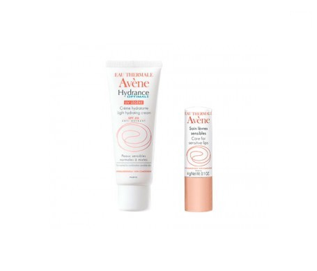 Avène Hydrance Optimale crema hidratante 40ml + labios sensibles 4g