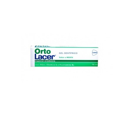 OrtoLacer gel dental sabor menta 75ml