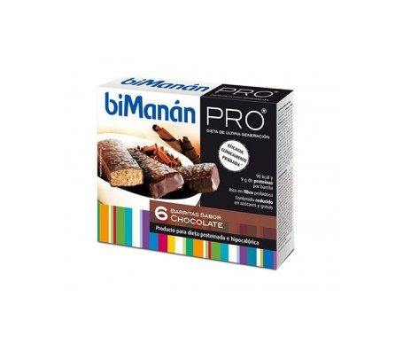 biManán® Pro barrita chocolate 6 barritas