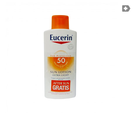 Eucerin® Sun Lotion Extra Light SPF50+ 400ml + aftersun 150ml REGALO